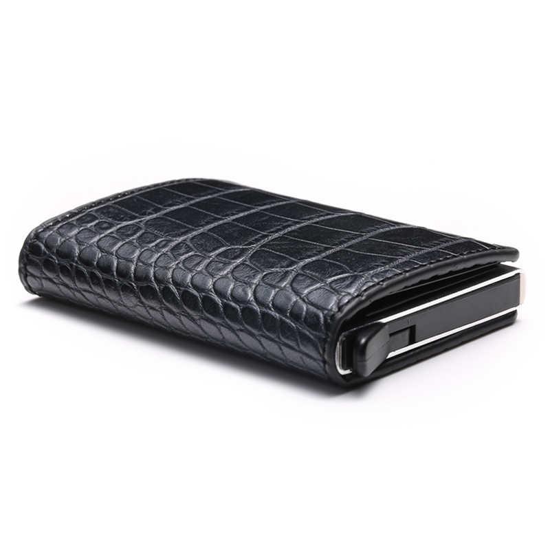 Aluminium Metal Credit Business Mini Card Wallet 2020 Dropshipping Man Vrouwen Smart Wallet Visitekaarthouder Hasp Rfid Portemonnee