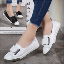 Women Ballet Flats Shoes Genuine Leather Slip on ladies Shallow Moccasins Casual Shoes Female Summer Loafer Shoes Women Summer beau genuine cow leather loafer shoes women new fashion bowknot fur wool lining slip on casual flats 27807