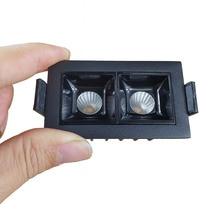 Laser Blade UGR<19 6W(2x3W) Black Frame Mini LED Recessed Light CRI90+ for Commercial Purpose Lighting