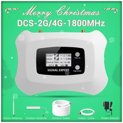2019 New Upgrade LCD display Global Frequency 2G 4G LTE DCS 1800mhz mobile signal repeater/signal booster amplifier for 2G4G kit