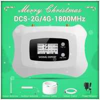 2019 nowa aktualizacja wyświetlacza LCD globalna częstotliwość 2G 4G LTE DCS 1800mhz mobilny wzmacniacz sygnału/wzmacniacz sygnału dla zestawu 2G4G
