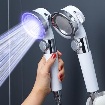 Ciśnieniowa głowica prysznicowa oszczędne zużycie wody i wysokie ciśnienie perforowany bezpłatny uchwyt węża regulowane akcesoria łazienkowe zestaw prysznicowy tanie i dobre opinie CN (pochodzenie) ABS+304steel Do trzymania w ręku Pojedyncza głowica ROUND Z przymocowanym uchwytem Chrome Głowice prysznica oszczędzające wodę