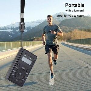 Image 5 - HRD راديو FM محمول 100 DAB ، مستقبل FM مع سماعات أذن ، جهاز إرسال رقمي صغير قابل لإعادة الشحن ، للاستخدام اليومي والسفر