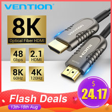Vention 8K Kabel HDMI 2.1 120Hz 48Gbps Fiber Optic Kabel HDMI Ultra High Speed HDR EARC untuk HD TV Box Proyektor PS4 Kabel HDMI(China)