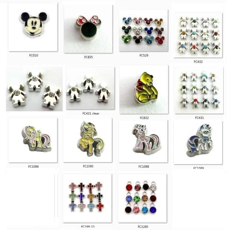 การ์ตูนตัวอักษรขายส่งราคาลอยตัว locket Charms 10pcs เช่นเพื่อนครอบครัวของขวัญสำหรับ Living locket