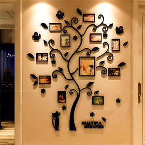 Sticker Decal Photo-Album Decoration Wall-Poster Tree-Shape Acrylic 3D for Hanging