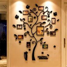 ثلاثية الأبعاد شجرة الأسرة ملصق لاصق لامع ورائع الاكريليك ألبوم صور للجدار ملصق شجرة شكل أعواد تزيين ديكور المنزل الجدار ملصق معلق