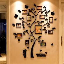 3Dファミリーツリーデカールステッカーアクリルフォトアルバムため壁ステッカーツリー状デコレーションステッカー家の装飾壁のポスター