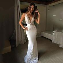 Свадебное платье русалки 2020 винтажное кружевное невесты с