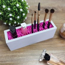 Silicone makeup brush storage box cosmetic free insert pen holder