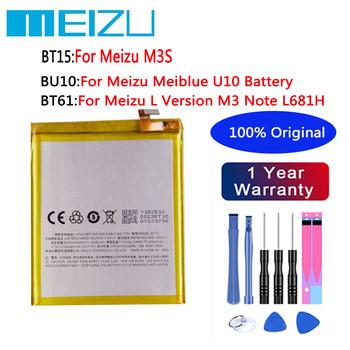 Oryginalny wysokiej jakości 3020mAh BT15 dla MEIZU M3S 4000mAh BT61 dla Meizu L wersja M3 uwaga L681H BU10 dla baterii Meizu BU10 tanie i dobre opinie 2801 mAh-3500 mAh CN (pochodzenie)