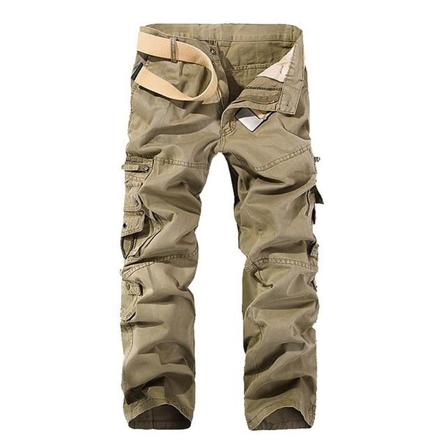 SHUJIN High Quality Men's Cargo Pants Casual Loose Multi Pocket Military Pants Long Trousers For Men Camo Joggers Plus Size 5