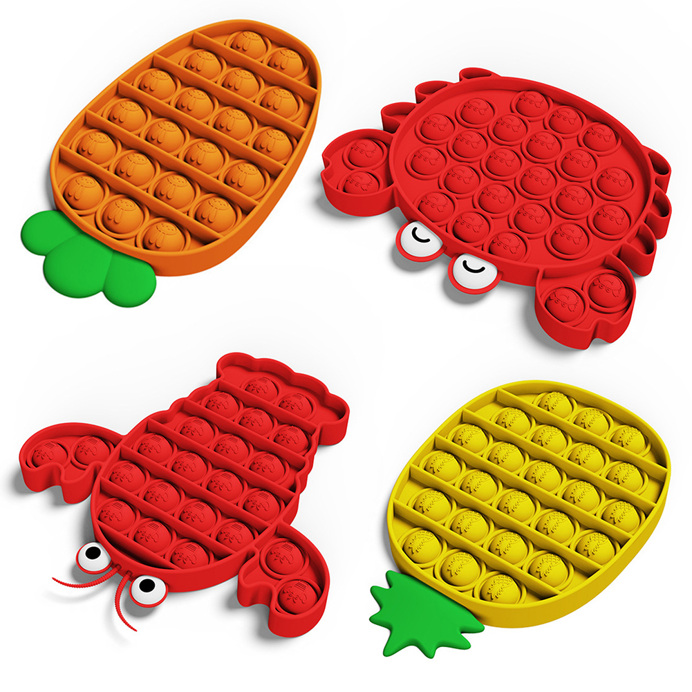 Fidget Toys Autism Special Needs Children Push Bubble Gifts Soft Squeeze Toy for Children Early Learning Supplies