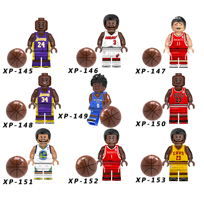 Single American Professional Basketball Player LeBron James Kobe Bryant Stephen Curry Building Blocks Bricks Toys For Children