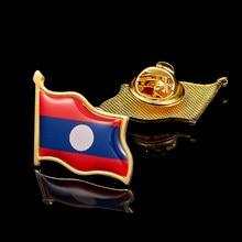Pin de solapa de banderas, chapado en oro de la República Islámica del país asiático, coleccionable