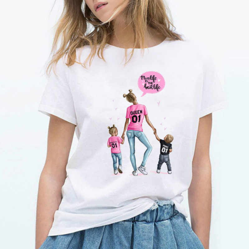 Women T Shirt Korean Fashion Clothing Harajuku Kawaii White Tshirt Gift for Mom T-shirt Female T-shirt Mother's Casual Camiseta