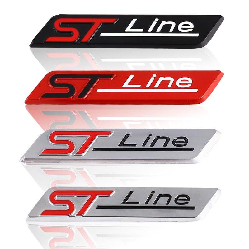 3D ST линии автомобиля Стикеры эмблема на багажник наклейки для Ford F-150 фокус X Vignale ST линия Mondeo Escape EcoBoost 245 330 Explorer