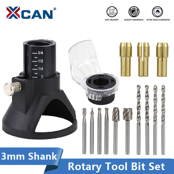 XCAN Rotary Tools Dedicated Locator Set Grinding Locator with Twist Drill Bit Wood Rotary Files Power Tools Accessories punch twist nose cap drill dedicated locator for electric grinder rotary tool diy woodworking tools