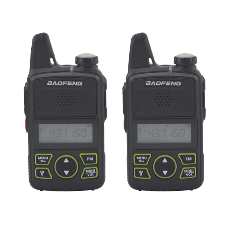 2pieces Baofeng Bf-t1 Walkie Talkie UHF 400-470MHz 20CH 1W Mini Pocket Portable Ham FM Radio With Earpiece