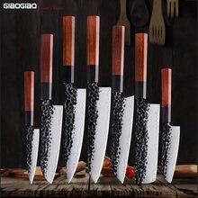 Giaogiao 8''chef ножи 8cr14mov стальной сердечник многослойный