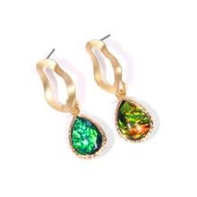 Boho Opal Stone Earrings For Women 2019 Vintage Rainbow Hook Dangle Statement Earring Drop Jewelry