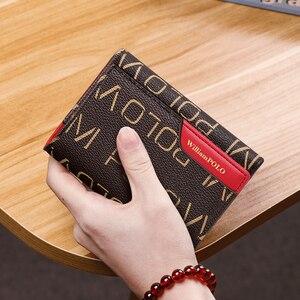 Роскошный брендовый кошелек, женская короткая Сумка Для водительских прав с защитой от кражи, короткий Новый стильный многофункциональный ...