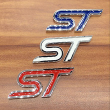 1pcs 3D metal zinc alloy ST Car trunk stickers Badge car emblem car styling for Ford Mondeo Focus Fiesta S-MAX Auto Accessories leather only 2 front car seat covers for ford mondeo focus fiesta edge explorer taurus s max auto accessories car styling
