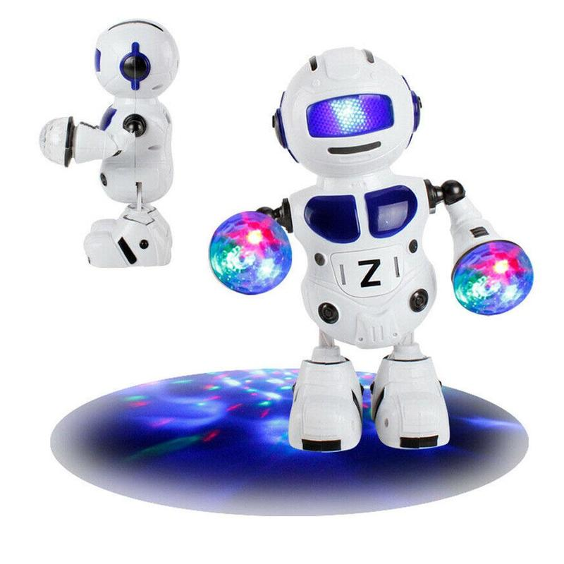 New 180 Rotating Smart Space Dance Robot Electronic Walking English Speaking Robot With Music Light Astronaut Toys For Children