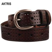 AKTRIS Ladies Design Belt Quality Pure Cow Genuine Leather Belts Jean 95-110cm Length 2.8cm Wide Female Accessories NFC443