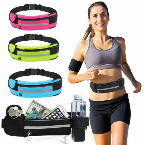 Fashion Waterproof Running Bum Bag Portable Fanny Pack Waist Belt Money Wallet Zip Pouch Sports Aist Packs