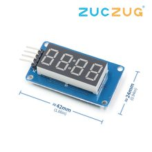 TM1637 LED Display Module For Arduino 7 Segment 4 Bits 0.36 Inch Clock RED Anode Digital Tube Four Serial Driver Board Pack(China)