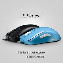Zowie gear s1/s2 divina versão azul/rosa mouse para e-sports