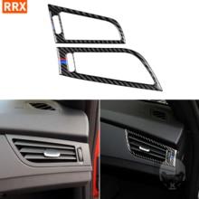 For BMW Z4 E89 2009 2015 Carbon Fiber Dash Side Air conditioning Vent Frame Sticker Air Outlet Interior Cover Car Accessories