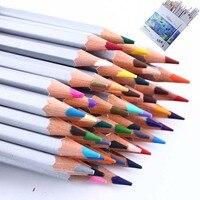 Conjunto de desenho 48 cores lápis pintura arte fina colorido lápis