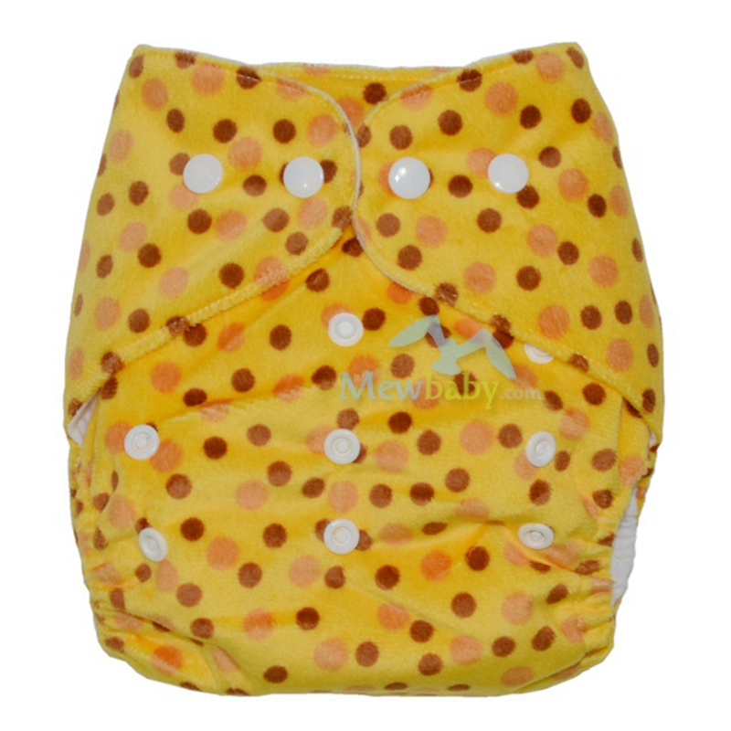 One Size Fits All Waterproof Minky Cloth Diaper PUL Baby Pocket Diaper Cover With 1pc 3-layer Microfiber Insert ER26