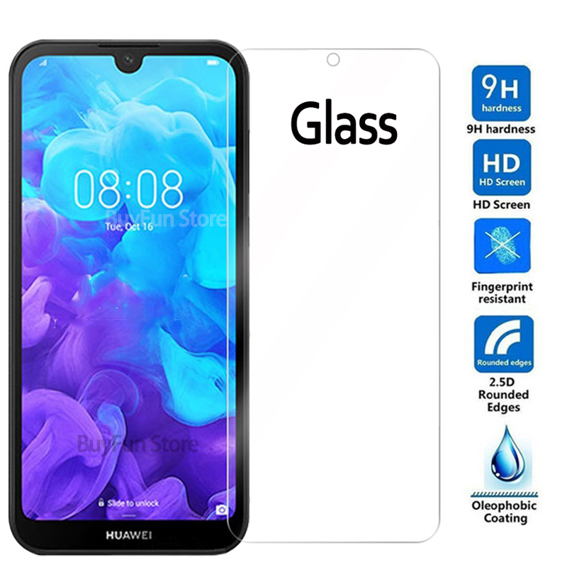 Protective Glass On The For Huawei Y5 2019 Y 5 Safety Glass Screen Protector Huavei Y7 Y6 Pro Prime 2019 Tempered Glass Film