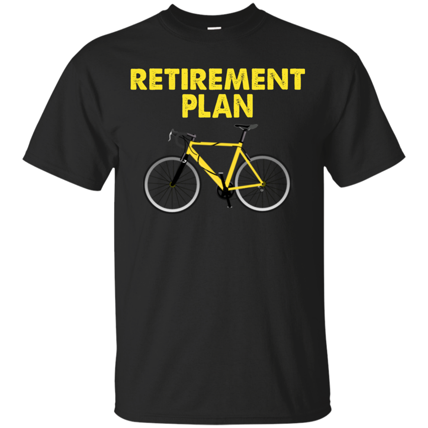 Retirement Plan Cycling Gift Biking White T-Shirt S-2Xll Round Necktee Shirt image