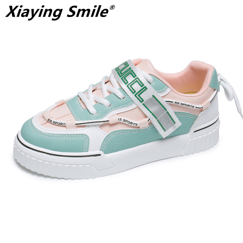 Xiaying Smile 2020 New Style  Woman Outdoor Sport Sneakers Light Running Shoes Lace Up Female Walking Footwear Rubber Sole