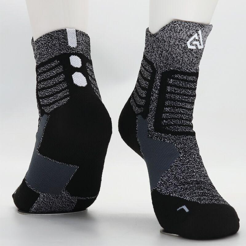 Adult Size Mid Calf Crew Socks Giannis Antetokounmpo Dark Gray Basketball Player Forward Outdoor Super Sports Elite Compression