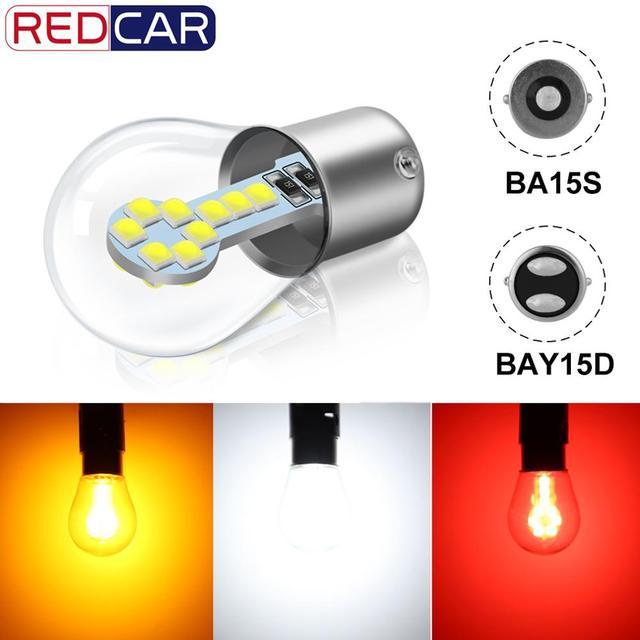 1pcs P21W Led Bulb 1157 P21/5W BAY15D Led 1156 BA15S Lamp 18SMD 3030 Chips Super Bright Auto Light Source Reverse Bulb 12V