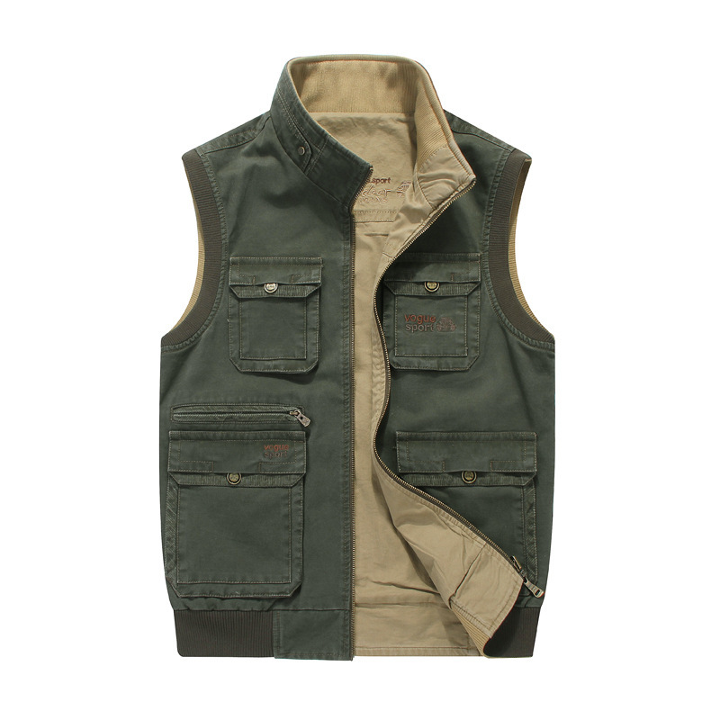 5XL 6XL 7XL 8XL Vest for Men Multi pockets fishing hunting photography Military Jacket Brand Vest