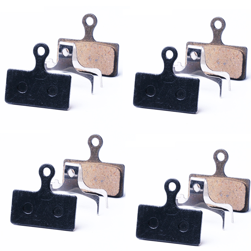 4 Pairs Bicycle Resin Disc Brake Pads for Shimano Deore M985 M988 Deore XT M785 SLX M666 M675 M615 Alfine S700 MTB Brake Pads