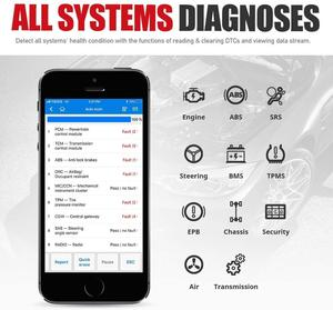 Image 2 - Autel AP200 escáner OBD2 con Bluetooth, lector de códigos de coche con todos los sistemas de diagnóstico y 19 funciones de servicio, herramienta de escaneo automotriz