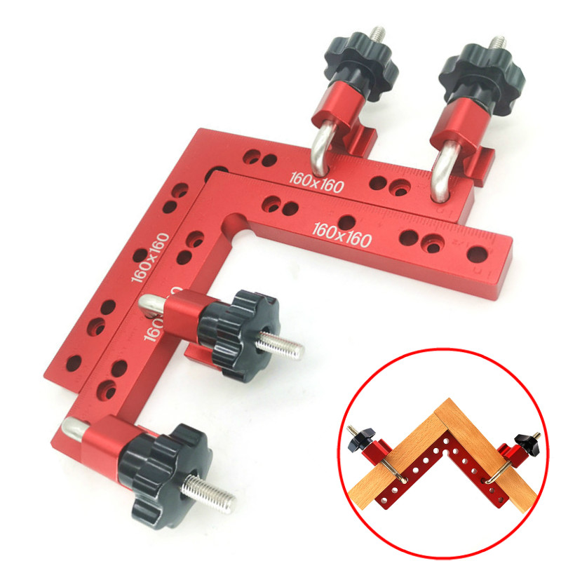 Woodworking Adjustable Corner Clamping Ruler Aluminium Right Angle Clamps G Clamp L Shaped Auxiliary Fixture Positioner Clip|Hand Tool Sets| |  - title=