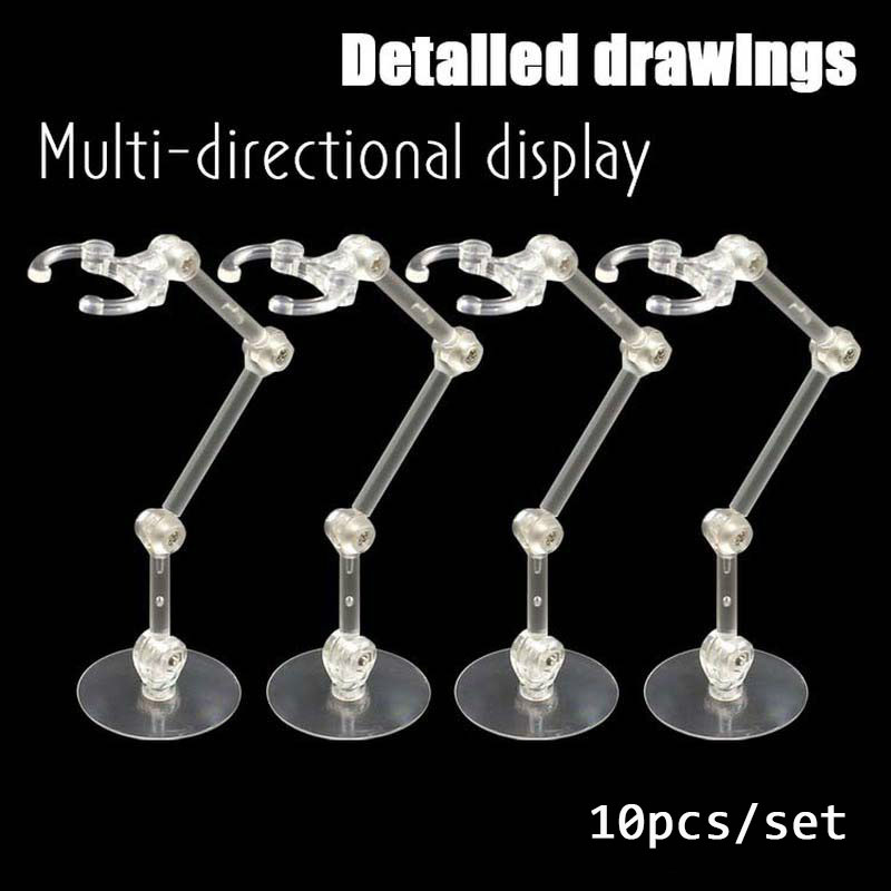 10 Pcs Doll Stands Figure Display Bracket Action Base For 1/144 SHF Saint Sic Robot Model Effect Stage Act Suit