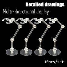 Base de ação para suporte de figura, suporte de exibição para modelo de robô saint sic, base de ação para modelo de boneca de 1/144, 10 peças