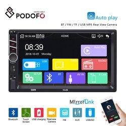 Podofo 7013B 2Din Carplay Car Radio Android Auto MP5 Video Player Bluetooth Handsfree USB 7