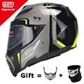 Новый мотоциклетный шлем BYE  мужской Полнолицевой шлем для езды на мотоцикле  ABS материал  приключения  мотоциклетный шлем в горошек  сертифи...