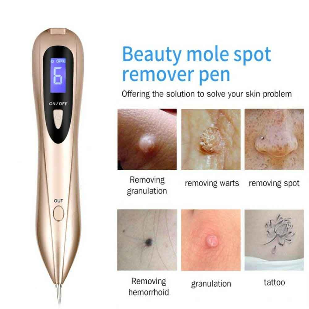 Laser Plasma Pen Mole Removal Dark Spot Remover LCD Skin Care Point Pen Skin Tag Tattoo Removal Tool Beauty Care Spot Cleaner