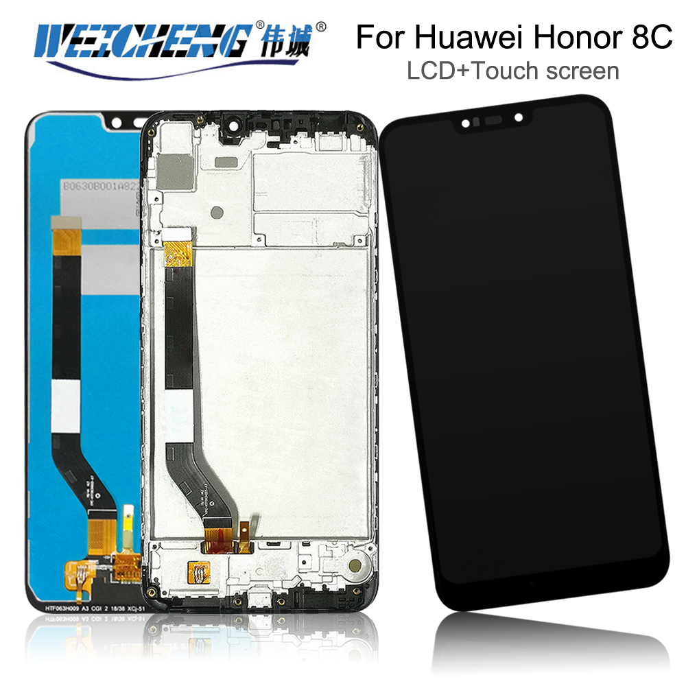 6.26 For Huawei <font><b>Honor</b></font> <font><b>8C</b></font> play LCD <font><b>Display</b></font>+<font><b>Touch</b></font> <font><b>Screen</b></font> Assembly <font><b>with</b></font> frame Repair Part Accessories For <font><b>Honor</b></font> <font><b>8C</b></font> Pro+free Tools image